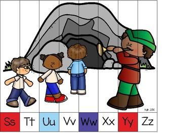 alphabet strip puzzle_the pied piper theme