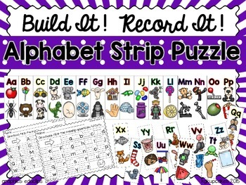 alphabet strip puzzle_upper and lower case: build it record it