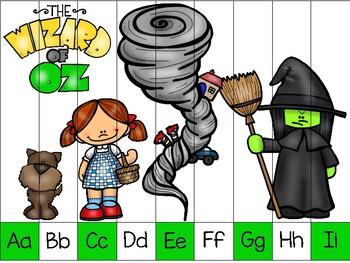 alphabet strip puzzle_wizard of oz theme