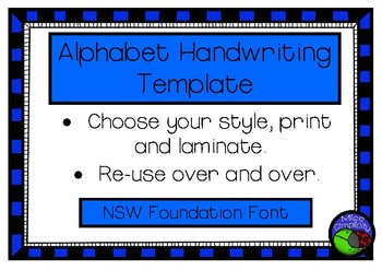 Alphabet tracing templates nsw foundation font handwriting by miss alphabet tracing templates nsw foundation font handwriting fandeluxe Image collections