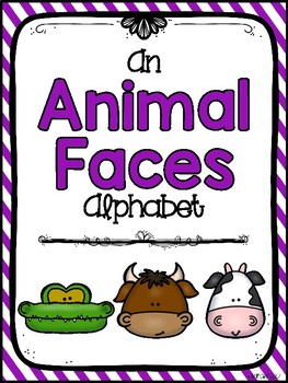 alphabet_animal faces theme