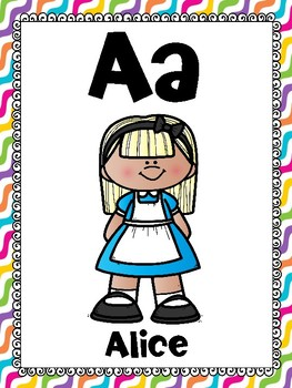 alphabet_full page: alice in wonderland theme