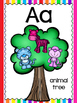 alphabet_half and full page: fantasy trees theme