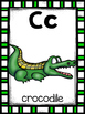 alphabet_half and full page: reptile theme