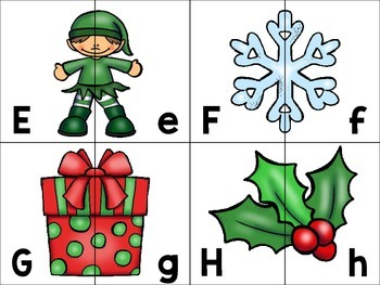 alphabet_half page: christmas theme + bonus