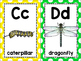 alphabet_full and half page: insect theme plus bonus strip puzzle