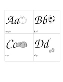 alphabetic Picture cards
