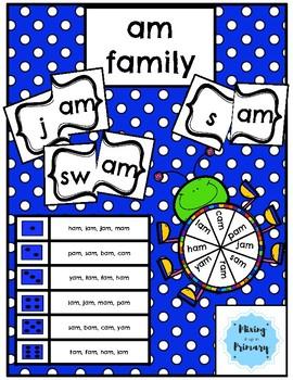 Short a - am Word Family Activities