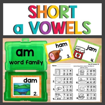 am Word Family Phonics Pack