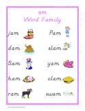 """am"" word family set"