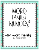 am word family memory