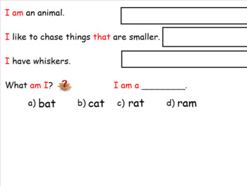 am word family SMARTboard activities