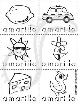 amarillo color book (Spanish)