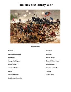 american Revolution Play Script Revolutionary War Reader's Theater