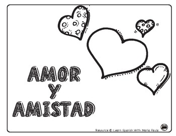 San valentin / amor y amistad / Valentines in Spanish