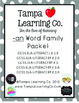 an Word Family Packet (Phonics, Reading, Spelling) Common Core Aligned