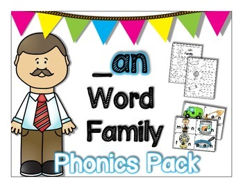 an Word Family Phonics Pack