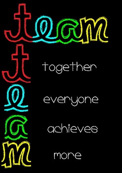 Acronyms about group work and the rules