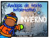 analisis de texto informativo - Invierno