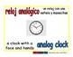 analog clock/reloj analogico meas 1-way blue/rojo