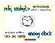 analog clock/reloj analogico meas 1-way blue/verde