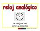 analog clock/reloj analogico meas 2-way blue/rojo