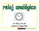 analog clock/reloj analogico meas 2-way blue/verde