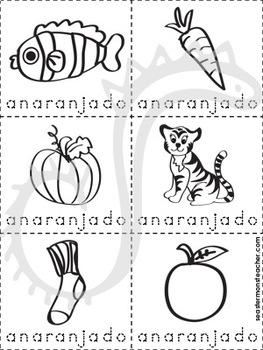 anaranjado color book (Spanish)