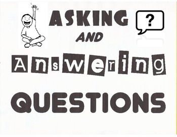 anchor charts for common core ask and answer questions