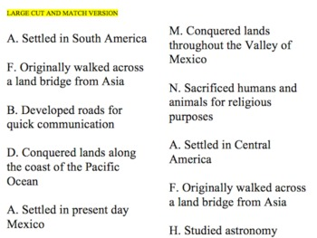 ancient cultures categorizing activity {CCS aligned}