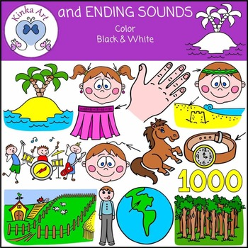 and Ending Sounds Clip Art