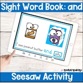 and Sight Word Book Seesaw Activity Distance Learning