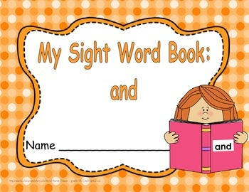 """Sight Word Practice Book and Emergent Reader-""""and"""""""