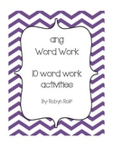 ang Word Work Pack