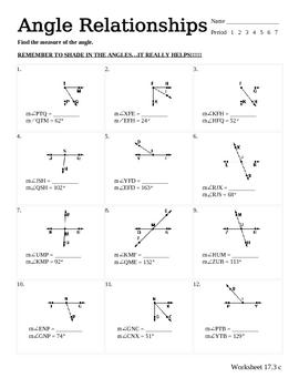 line and angle relationship pdf
