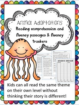 animal adaptations fluency and comprehension leveled passages