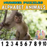 Alphabet Animals Number Strip Puzzles | Number Order Seque
