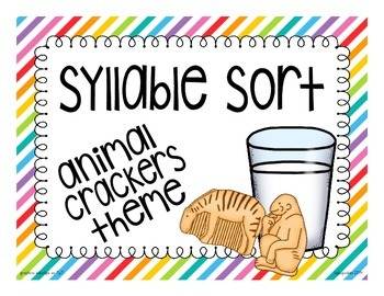 animal crackers: syllable sort