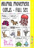 animal movement cards - full set