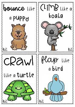 animal movement cards - set 2