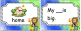 animal park - high frequency words matching cards