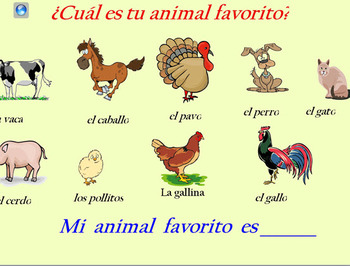 animales de la granja en power point