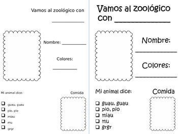 animales zoologico animals spanish zoo