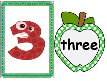animals numbers 1-10 cards