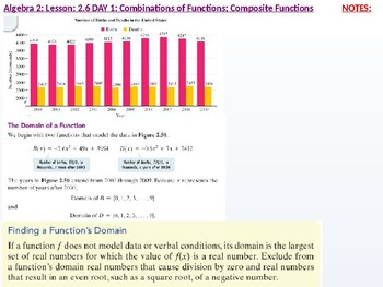 annotated: Alg 2: CU 9: 2.6 Day 1: Combination of Functions: Composite Functions
