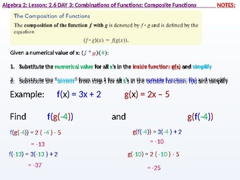 annotated: Alg 2: CU 9: 2.6 Day 3: Combinations of Functions; Composite Function