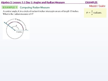 annotated: Algebra 2: CU 10: 5.1 Day 1: Angles and Radian Measure