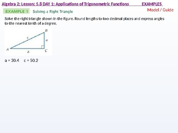annotated: Algebra 2: CU 10: 5.8 Day 1: Applications of Trigonometric Functions