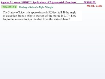 annotated: Algebra 2: CU 10: 5.8 Day 2: Applications of Trigonometric Functions