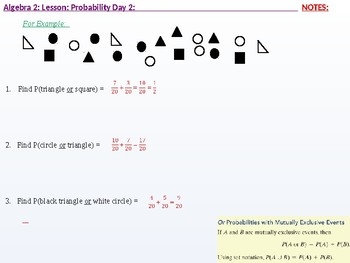 annotated: Algebra 2: CU 11: Probability Day 2: The Addition Rule